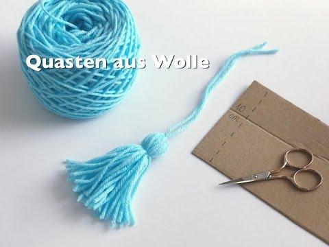 DIY Quasten aus Wolle herstellen ganz einfach