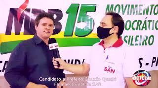Claudio Quadri é confirmado candidato a reeleição de prefeito, com Luis Carlos Viera de vice