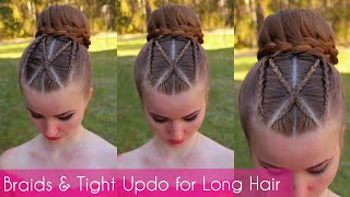 Braids & Tight Updo For Long Hair | Hairstyles For Long Hair