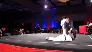 Зрелищный нокаут на соревнованиях по каратэ