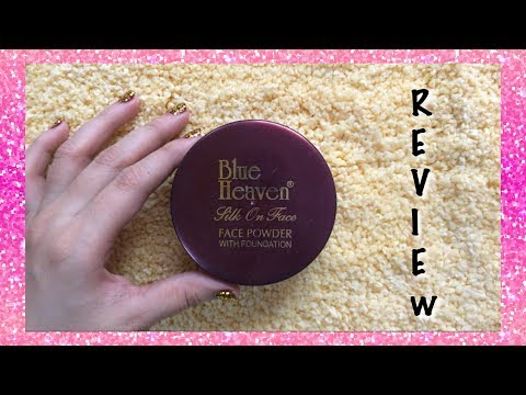 Blue Heaven silk on face face powder with foundation review