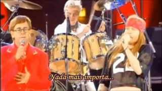 Queen, Elton John & Axl Rose   Bohemian Rhapsody (Freddie Mercury Tribute, 1992) Legendado