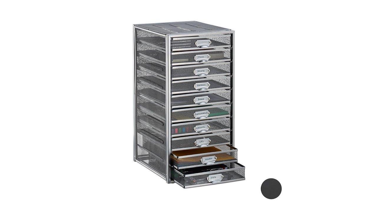 Video von: Schubladenbox A4 mit 10 Fächern