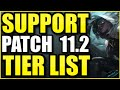 THE *BEST* CHAMPIONS TO PLAY AS SUPPORT ON PATCH 11.2! - League of Legends Support Tier List