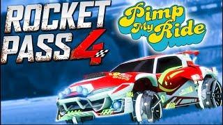 Pimp My Rocket League Ride - Rocket Pass 4/Mudcat Gxt!