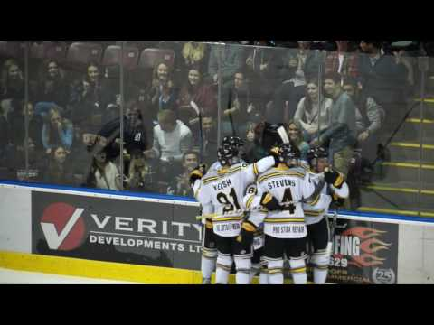 Marty Weshaver's First BCHL Goal Sep 30 2016