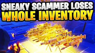 SNEAKY Scammer Gets Scammed For Whole Inventory! In Fortnite Save The World