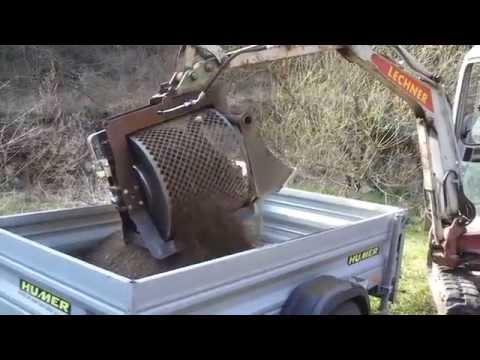 Lechner Sieblöffel kaufen Minibagger Anbaugerät M 2000 screening bucket excavator CUCHARA CRIBADO EXCAVADORA