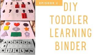 DIY Toddler Learning Binder (pre school prep)| Starting a Daycare | Daycare Update