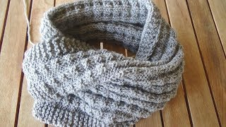 How To Knit Nordic Mens  Scarf -super Easy Knitting Pattern