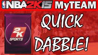 NBA - NBA 2K15 Pack Opening - QUICK VIP PACK DABBLE! | NBA 2K15 MyTeam PS4 Gameplay