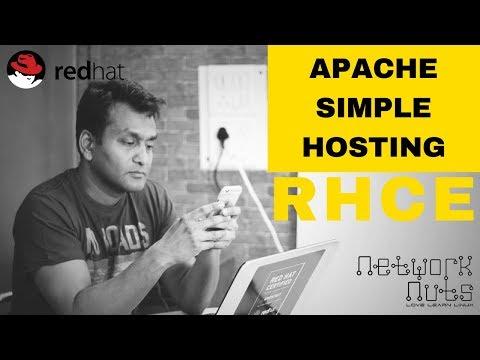 RHCE Training - Hosting Simple Website Apache - YouTube
