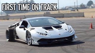 LS Swapped Lamborghini Huracan Hits The Track For The First Time!!