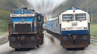 CLASHING Trains INDIAN RAILWAYS Unlimited !