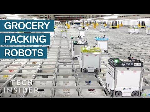 Uvnitř skladiště, kde tisíce robotů balí potraviny