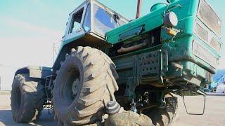 """16-Д.Выезд на тракторе Т-150К после ремонта.Ремонт крепления """"подушки"""" передних рессор."""