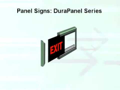 Wall Mounted Panel Signs