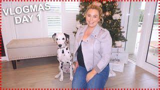 VLOGMAS DAY 1 2019! CHRISTMAS DECORATING!