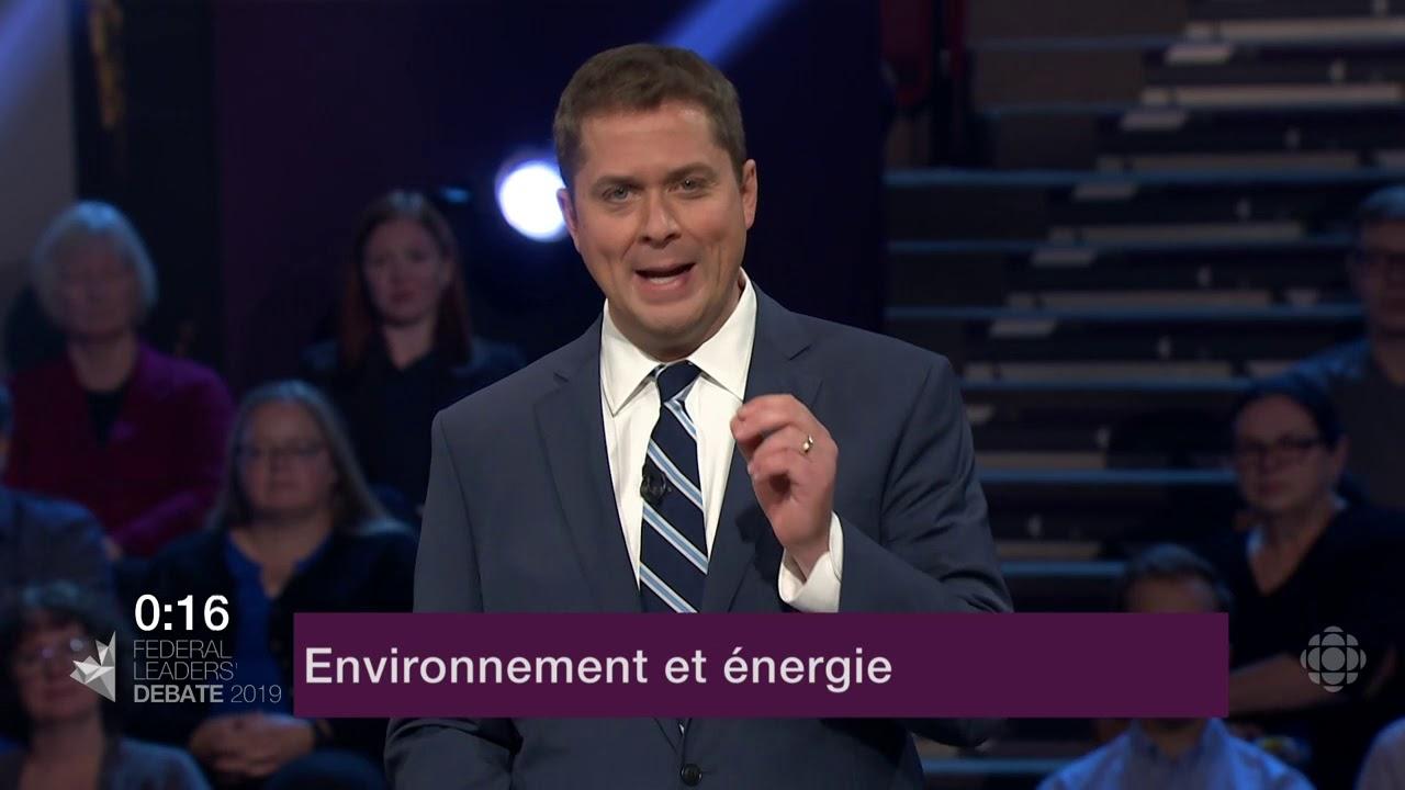 Andrew Scheer répond à une question d'un citoyen sur le changement climatique