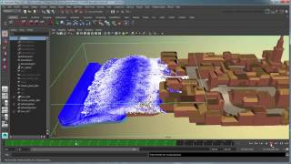 Creating a body of water simulation using Bifrost - Part 3: Creating and caching a tidal wave effect