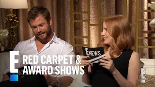 Chris Hemsworth & Jessica Chastain Interview Each Other   E! Red Carpet & Award Shows