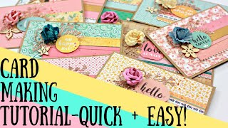 DIY Card Making Tutorial - Quick And Easy