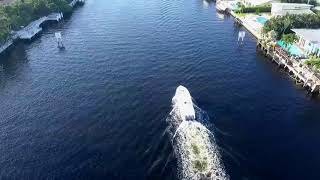 Drone Racing Boats on Intracoastal (Boca Raton) Florida