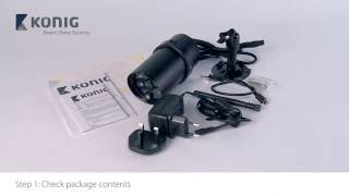 Konig SAS-CLALIPC20 – Wi-Fi outdoor camera installation Wired – ENG