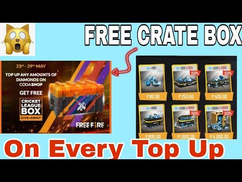 GET FREE CRATE BOX ON EVERY TOP UP | GARENA FREE FIRE