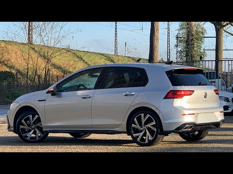 Volkswagen NEW Golf 8 SEL R-Line 2021 in 4K Reflex Silver 18inch Bergamo walk around & detail inside