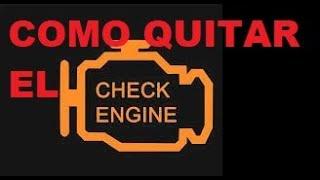 Como Quitar la luz del Check Engine del tablero de cualquier carro?