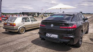 650HP BMW X4M Competition vs 750HP Audi RS6 Avant C7 & 850HP BMW M5 F90 Competition