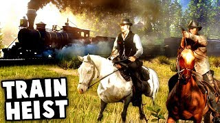 Stealing Dynamite To Do An Epic Western Train Robbery! (Red Dead Redemption 2 Gameplay)