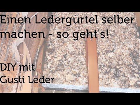 Einen Ledergürtel selber machen | DIY Gürtel aus Leder