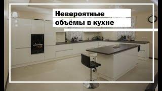 Кухня гостиная. Большая кухня. Кухня с островом. Белая кухня.