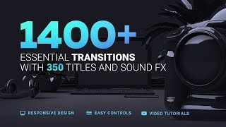 1400+ Transitions and Titles for After Effects