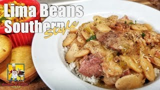 Lima Beans With Smoked Ham Hocks | #SoulFoodSunday | Crockpot Recipes