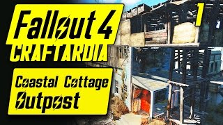 Fallout 4 Coastal Cottage Outpost #1 - Base Building Timelapse - Fallout 4 Settlement Building PC