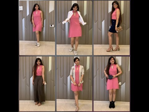 ONE DRESS 6 WAYS || 1 DRESS DIFFERENT WAYS || SUMMER OUTFIT IDEAS