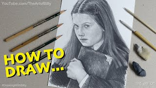 How To Draw Ginny Weasley With Tom Riddle's Diary (Bonnie Wright In The Harry Potter Movies)