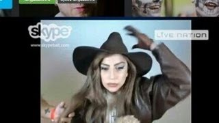What's Up With Gaga? - Skype Chat, Gun Bra, Charlie Sheen Lap Dance