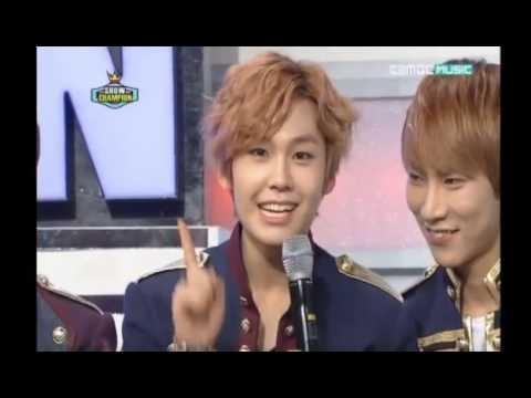 Block B Ukwon VS BtoB Ilhoon Aegyo battle show champion 121127