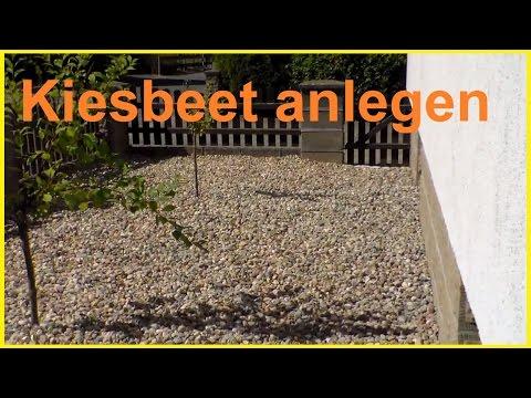Kiesbeet anlegen - Rasenfläche durch Kiesbeet ersetzen - Steingarten Kiesgarten anlegen