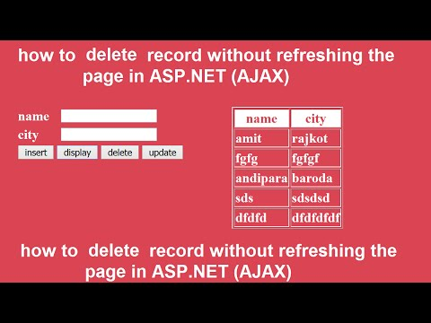 how to delete record without refreshing the page in ASP.NET