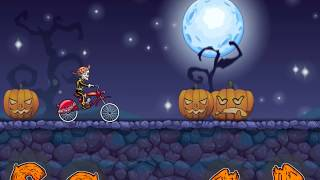 MOTO X3M Bike Race Game - Gameplay Walkthrough Part 30 - Halloween lvl 16 - 25 New Bike Unlocked