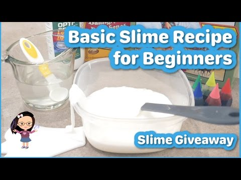 BASIC SLIME RECIPE & TIPS FOR BEGINNERS | Slime Giveaway