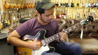 Vinnie Miranda playing our 1968 Epiphone Riviera here at Norman's Rare Guitars