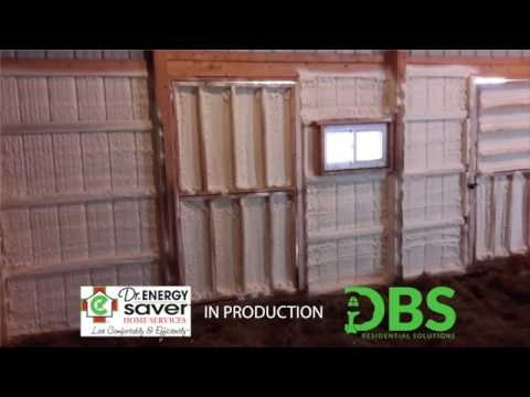 This customer in Swan River, Minnesota wanted to have their pole building comfortable year round, so they requested a quote for spray foam insulation. DBS Residential Solutions is happy to help our customers all of our customers with their insulation and home comfort needs.