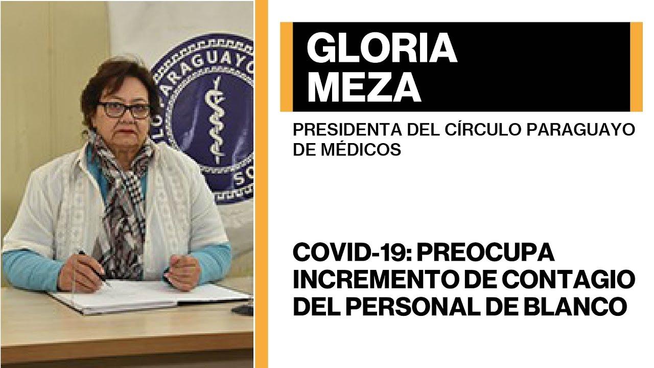 Gloria Meza - Covid-19: Preocupa incremento de contagio del personal de blanco