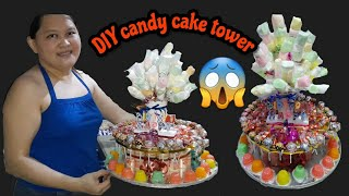HOW TO MAKE CANDY CAKE TOWER|DIY CANDY CAKE FOR BIRTHDAY